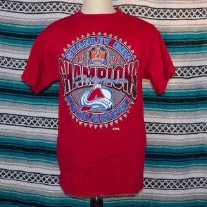 90s Colorado Avalanche Logo 7 Shirt Large